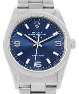 Rolex Rolex Air King Oyster Perpetual Blue Dial Stainless Steel Watch 14000