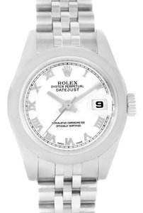 Rolex Rolex Datejust White Roman Dial Stainless Steel Ladies Watch 179160