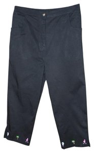 Quacker Factory Twill Stretch Capris black