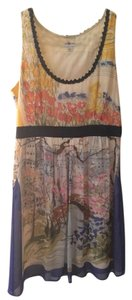 Anthropologie short dress Silk Watercolor Print on Tradesy