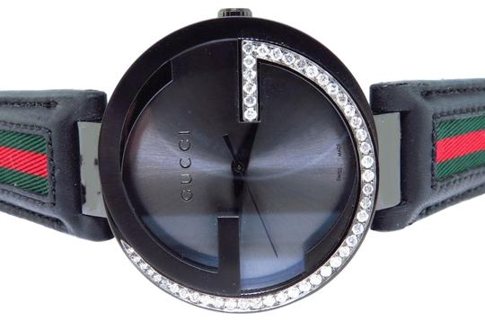 Gucci Mens Gucci Black Pvd Mm Interlocking Gg Diamond Watch 1.25 Ct Ya133206 Image 0