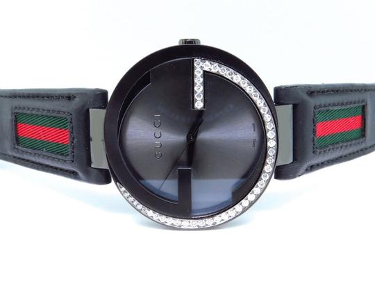 Gucci Mens Gucci Black Pvd Mm Interlocking Gg Diamond Watch 1.25 Ct Ya133206 Image 1