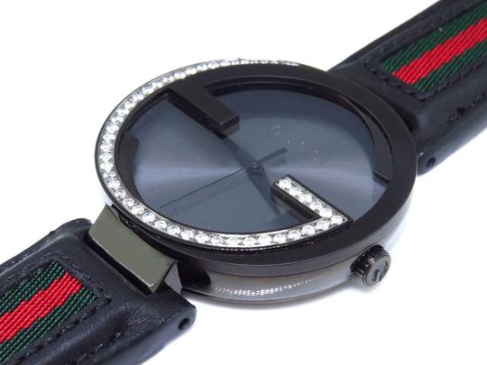 Gucci Mens Gucci Black Pvd Mm Interlocking Gg Diamond Watch 1.25 Ct Ya133206 Image 2