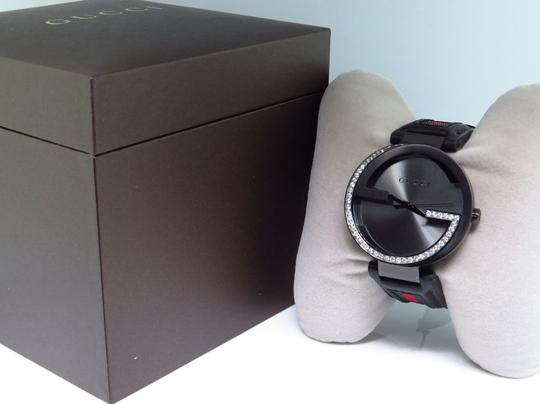 Gucci Mens Gucci Black Pvd Mm Interlocking Gg Diamond Watch 1.25 Ct Ya133206 Image 7