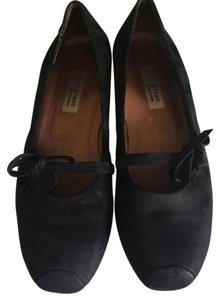 Paul Green Suede Ballet Bows Black Suede Flats