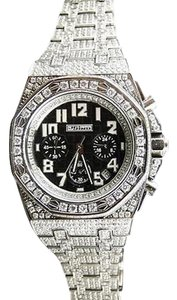 Mens Jojino By Joe Rodeo Simulated Diamond Ap Watch Black Mj-8026 - Limited Qty
