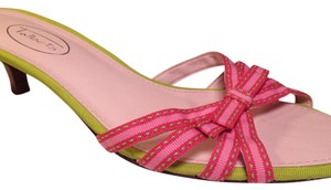 Talbots Pinks, Green Sandals