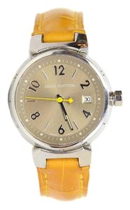 Louis Vuitton Louis Vuitton Stainless Steel and Alligator Tambour Watch