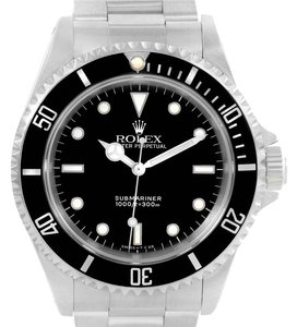 Rolex Rolex Submariner No Date Black Dial Stainless Steel Mens Watch 14060