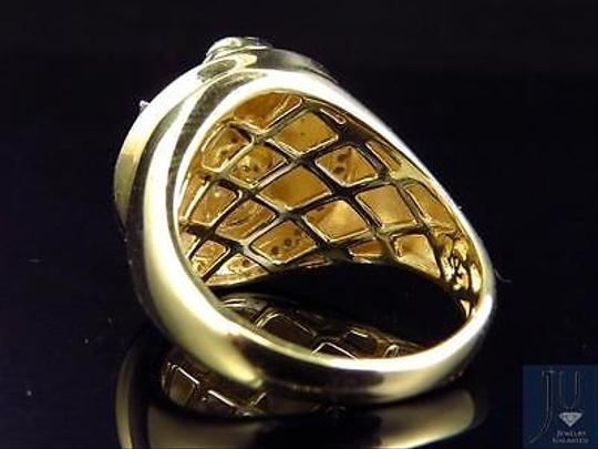Other Mens 10k Yellow Gold Genuine Diamond 3d Angel Fashion Pinky Ring 0.60ct 22mm Image 5