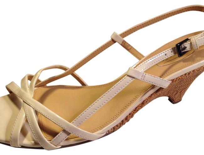 Talbots Off White Cream Patent Leather Cream Strappy Modified Wedge B Sandals Size US 11 Regular (M, B) Talbots Off White Cream Patent Leather Cream Strappy Modified Wedge B Sandals Size US 11 Regular (M, B) Image 1