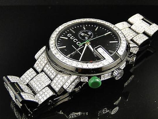 Gucci Fully Iced Out Mens Diamond Gucci Ya101331 Watch Ct