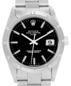 Rolex Rolex Date Stainless Steel Black Dial Automatic Mens Watch 15210