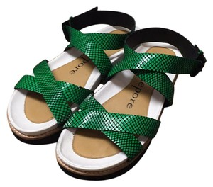 Nanette Lepore Green and black and white Sandals