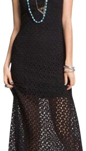 Black Maxi Dress by Mimi Chica Crochet Maxi