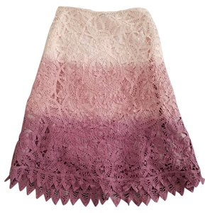 Heart Moon Star Skirt Pink White Ombre