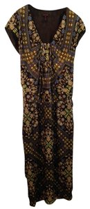 Black, Brown, Green, Blue Maxi Dress by Escada