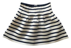 Gap Striped Skirt Navy Blue and Off-White
