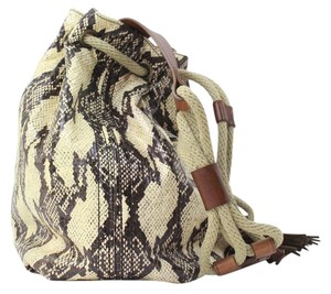 Lanvin Python Bucket Shoulder Bag