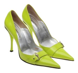 Cesare Paciotti Vintage Lime Green Pumps