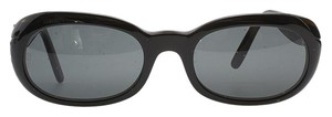 Cartier Cartier 135 Black Plastic Oval Sunglasses (95612)