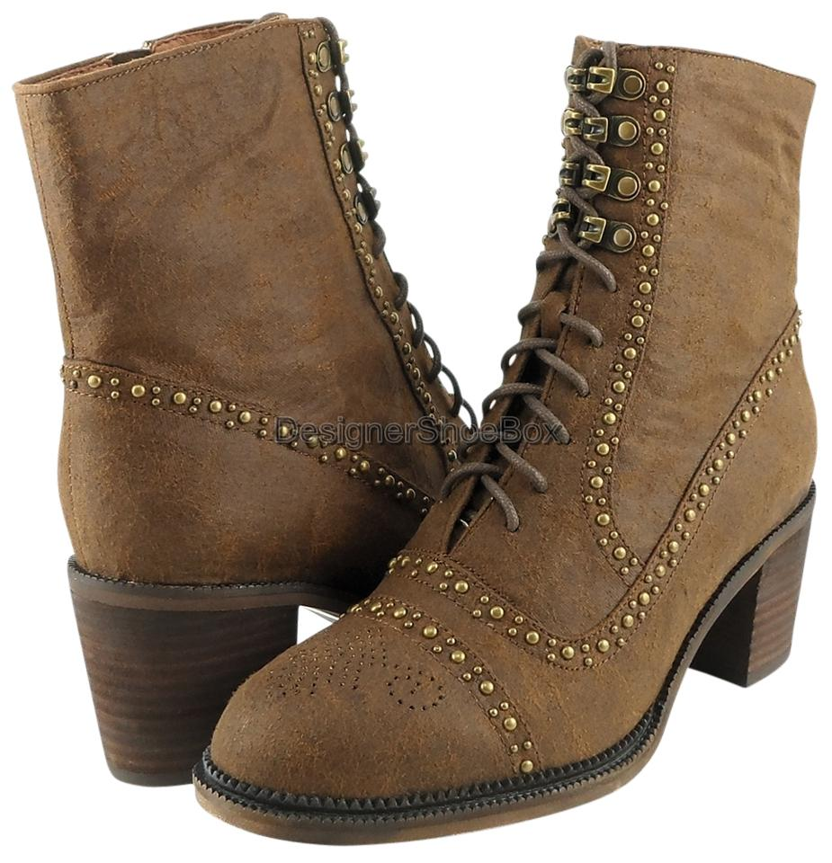 Jeffrey Campbell Designer Distressed Brown Hannie Perforated Designer Campbell Boots/Booties 78a6e9