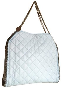 Stella McCartney Falabella Quilted Tote in Ice Blue