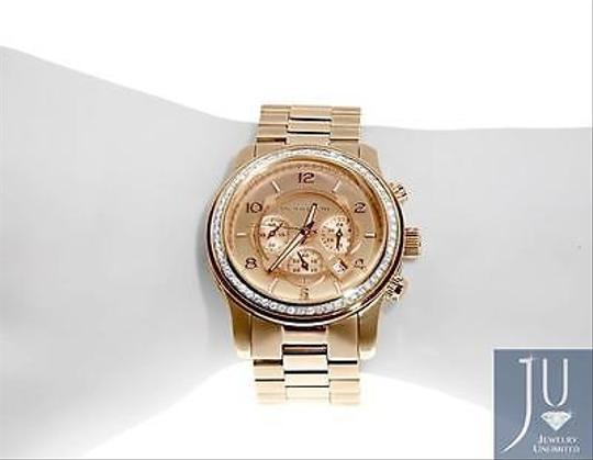 Other Micheal Kors Rose Gold Tone Mm Steel Watch With Custom Set Diamonds Ct Image 1