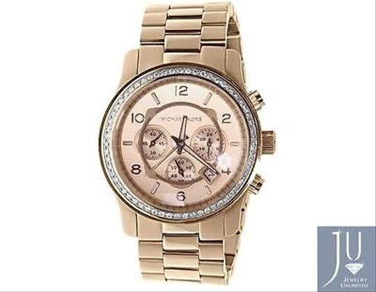 Other Micheal Kors Rose Gold Tone Mm Steel Watch With Custom Set Diamonds Ct Image 2