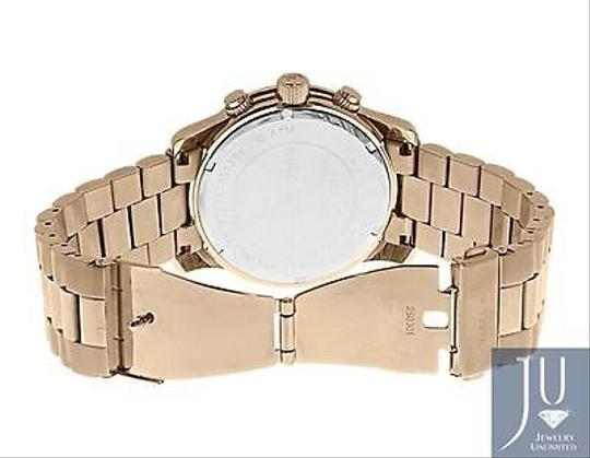 Other Micheal Kors Rose Gold Tone Mm Steel Watch With Custom Set Diamonds Ct Image 3