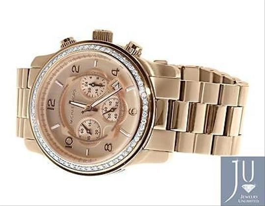 Other Micheal Kors Rose Gold Tone Mm Steel Watch With Custom Set Diamonds Ct Image 4