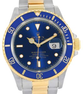 Rolex Rolex Submariner Steel 18K Yellow Gold Mens Watch 16613 Box