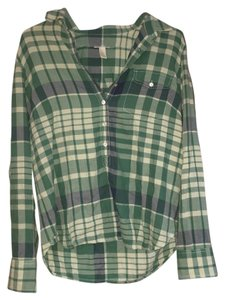 J.Crew Soft Barely Worn Button Down Shirt Green