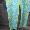 Lilly Pulitzer Turquoise Mimosa The Everglades Capris Size 0 (XS, 25) Lilly Pulitzer Turquoise Mimosa The Everglades Capris Size 0 (XS, 25) Image 3