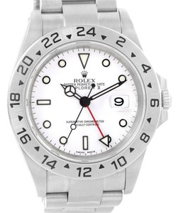 Rolex Rolex Explorer II White Dial Stainless Steel Date Mens Watch 16570