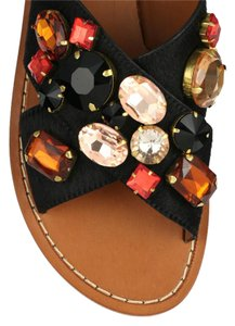 Marni Flat Jewel Calfhair Jeweled Flats