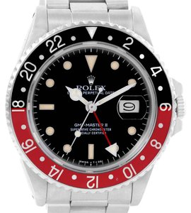 Rolex Rolex GMT Master Fat Lady Vintage Coke Black Red Bezel Watch 16760