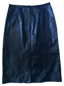 Talbots Leather Winter Skirt Eggplant/Dark Purple