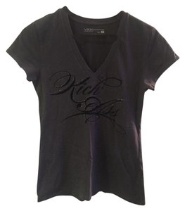 Victoria's Secret V-neck Studded T Shirt Grey