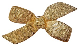 Dior Etched Ribbon Bow Brooch Pin