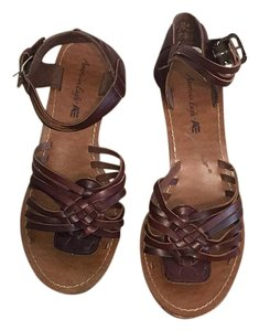 American Eagle Outfitters Brown and Tan Wedges