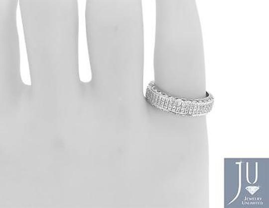 Jewelry Unlimited 10k,White,Gold,Mens,Pave,Genuine,Diamond,6,Mm,Fashion,Wedding,Band,Ring,0.55,Ct