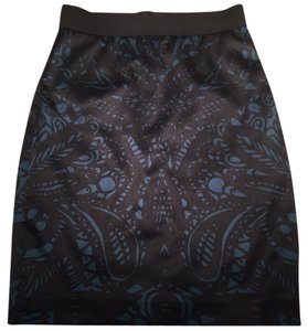 Express Skirt Black and Teal
