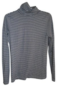 Vineyard Vines Preppy Striped Casual T Shirt black white