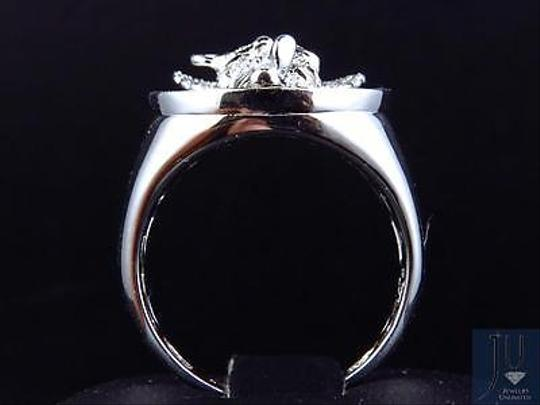 Other Genuine Diamond 3d Angel Fashion Pinky Ring In White Gold Finish 0.60ct 22mm Image 1