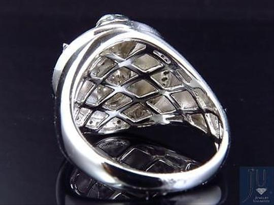 Other Mens 10k White Gold Genuine Diamond 3d Angel Fashion Pinky Ring 0.60ct 22mm Image 1