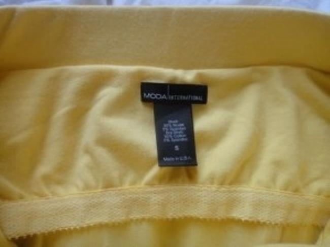 Moda International Top Canary Yellow