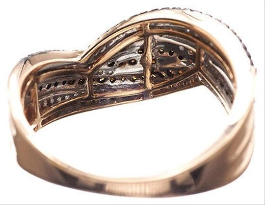 Other 10k Rose Gold Ladies Red Diamond Designer 10mm Fashion Band Ring 0.40ct