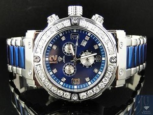 Mens Aqua Master Jojino Joe Rodeo Blue Metal Mm Diamond Watch W146d Ct