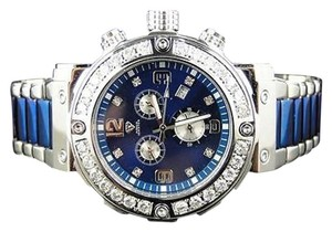 Other Mens Aqua Master Jojino Joe Rodeo Blue Metal Mm Diamond Watch W146d Ct